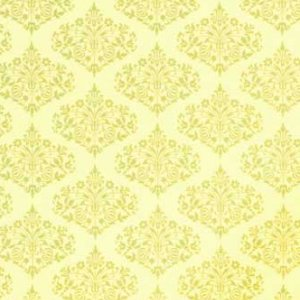 Amy Butler Midwest Modern Fabric - Park Fountains - Yellow