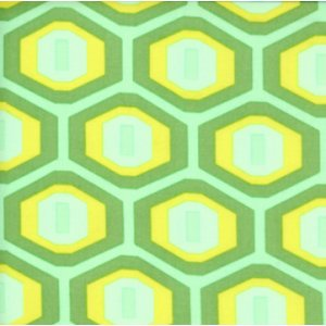 Amy Butler Midwest Modern Fabric - Honeycomb - Green