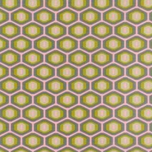Amy Butler Midwest Modern Fabric - Honeycomb - Grey