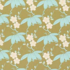Amy Butler Midwest Modern Fabric - Trailing Cherry - Sand