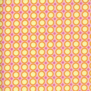 Amy Butler Midwest Modern Fabric - Happy Dots - Pink