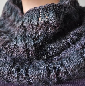 Crystal Palace Sausalito Smoky Cables-and-Lace Cowl Kit - Scarf and Shawls
