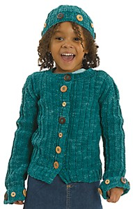 Berroco Suede Rebecca Kit - Baby and Kids Cardigans