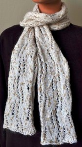 Crystal Palace Moonshine Cable Panel Knit Scarf Kit - Scarf and Shawls