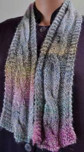 Crystal Palace Monaco Big Cable Scarf Kit - Scarf and Shawls