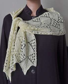 Crystal Palace Panda Silk Chevron Lace Scarf Kit - Scarf and Shawls