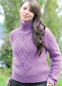 Cascade 128 Superwash Celtic Pullover Kit - Women's Pullovers
