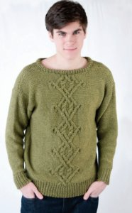 Cascade 128 Superwash Men's Celtic Pullover Kit - Mens Sweaters