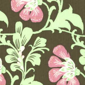 Amy Butler Daisy Chain Fabric - Sweet Jasmine - Brown