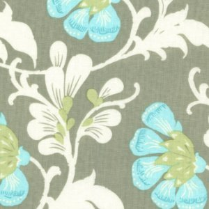 Amy Butler Daisy Chain Fabric - Sweet Jasmine - Grey