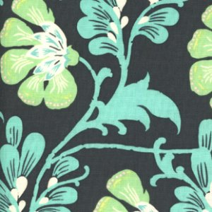 Amy Butler Daisy Chain Fabric - Sweet Jasmine - Navy