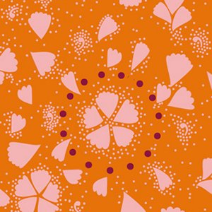 Anna Maria Horner Innocent Crush Fabric - Maybe - Tangerine