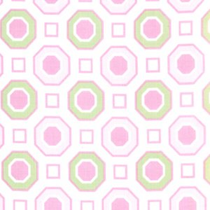 Annette Tatum Little House Fabric - Honey Comb - Pink