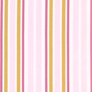 Annette Tatum Little House Fabric - Ice Cream Stripe - Berry