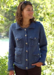 Cascade 128 Superwash The Jean Jacket Kit - Women's Cardigans