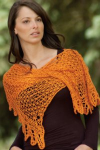 Cascade Heritage Silk Orange Crush Shawl Kit - Scarf and Shawls