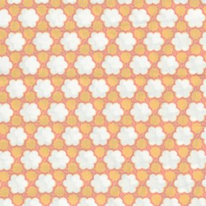 Annette Tatum Bohemian Fabric - Clover - Orange