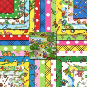 Berenstain Bears Welcome to Bear Country Precuts Fabric - Layer Cake