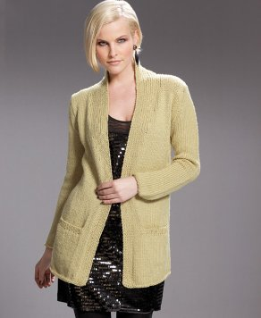 SMC Select Silk Wool Ladie's Basic Cardigan with Pockets Kit - Women's Cardigans