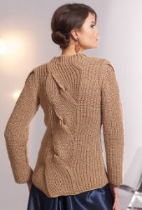SMC Select Silk Wool Ladie's Sweater with Front & Back Plait Kit - Women's Pullovers