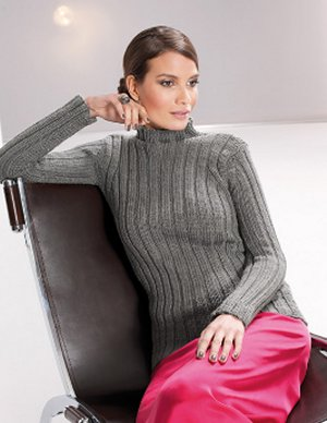 SMC Silk Wool Ladie's Ribbed Pullover Kit - Women's Pullovers