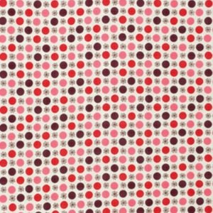 Denyse Schmidt Flea Market Fancy Legacy Collection Fabric - Flower & Dot Red