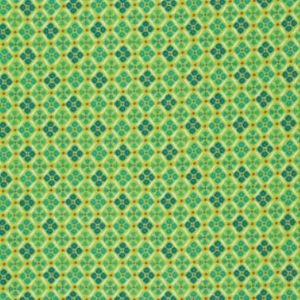 Denyse Schmidt Flea Market Fancy Legacy Collection Fabric - Medallion - Green
