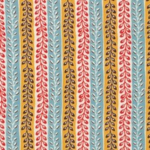 Denyse Schmidt Flea Market Fancy Legacy Collection Fabric - Seedpod Stripe - Turquoise