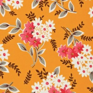 Denyse Schmidt Flea Market Fancy Legacy Collection Fabric - Bouquet - Red