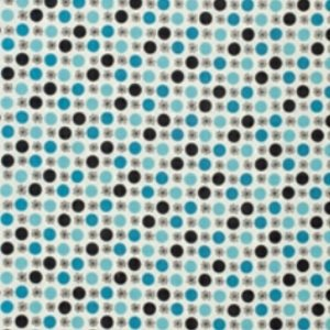 Denyse Schmidt Flea Market Fancy Legacy Collection Fabric - Flower & Dot - Turquoise
