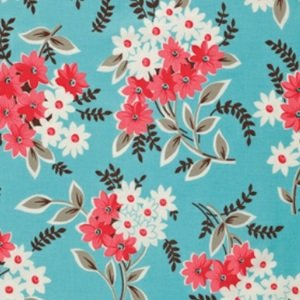 Denyse Schmidt Flea Market Fancy Legacy Collection Fabric - Bouquet - Turquoise