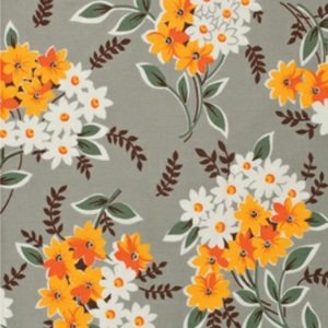 Denyse Schmidt Flea Market Fancy Legacy Collection Fabric - Bouquet - Grey