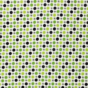 Denyse Schmidt Flea Market Fancy Legacy Collection Fabric - Flower & Dot - Green