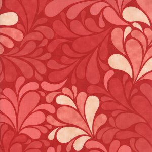 Cosmo Cricket Salt Air Fabric - Sea Garden - Coral (37022 12)