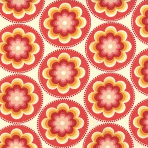 Cosmo Cricket Salt Air Fabric - Coral Bloom - Coral (37023 12)