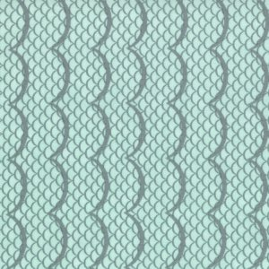Cosmo Cricket Salt Air Fabric - Waves - Mist (37025 11)