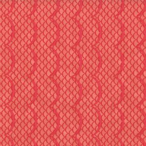 Cosmo Cricket Salt Air Fabric - Waves - Coral (37025 12)