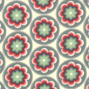 Cosmo Cricket Salt Air Fabric - Coral Bloom - Seafoam (37023 21)