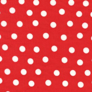 Berenstain Bears Welcome to Bear Country Fabric - Mama's Dots - Red (55506 23)