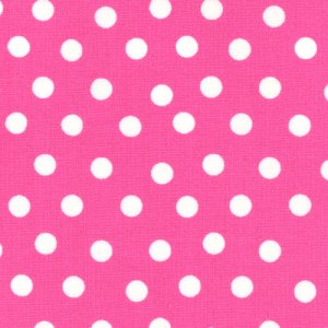 Berenstain Bears Welcome to Bear Country Fabric - Mama's Dots - Pink (55506 24)