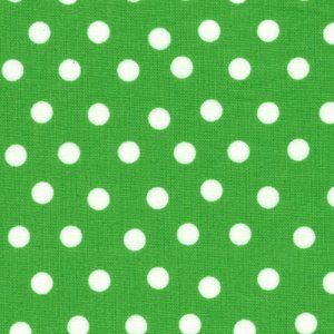 Berenstain Bears Welcome to Bear Country Fabric - Mama's Dots - Green (55506 26)