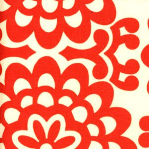 Amy Butler Lotus Fabric - Wall Flower - Cherry