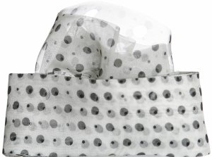 Circulo Tecido Trico Yarn - 2651 White, Black Dots