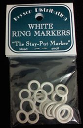 Bryspun Ring Markers - Small Assorted White
