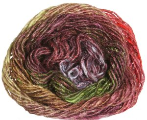 Noro Silk Garden Yarn - 356 Coral, Lime, Brown (Discontinued)