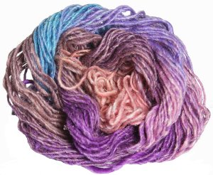 Noro Silk Garden Yarn - 357 Orange, Violet, Turquoise (Discontinued)