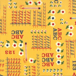 American Jane School Days Fabric - ABC & 123 - No. 2 Pencil (21611 14)