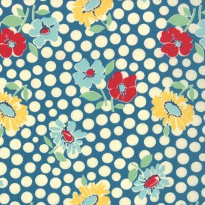 American Jane School Days Fabric - Recess - Textbook Blue (21612 13)