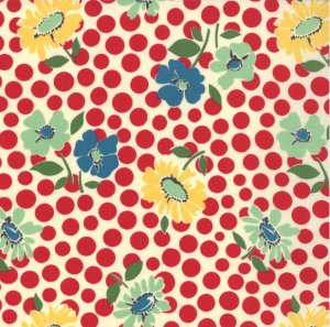 American Jane School Days Fabric - Recess - Apple (21612 18)