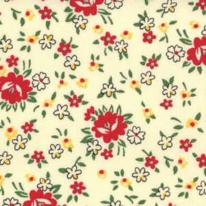 American Jane School Days Fabric - Teacher's Bouquet - Manilla (21617 18)